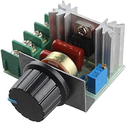 y velocidad motores Controlador regulador intensidad V regulable de voltaje de 220 2000 W SCRtermostato de de Haljia de de mN80nw