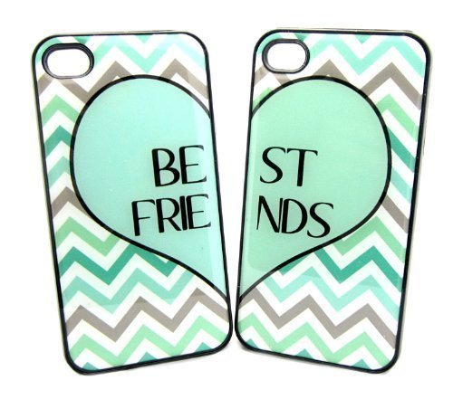 timeless design 644e5 96947 Mint Green Best Friends iphone 5c Case - Set of Two Friends Forever ...