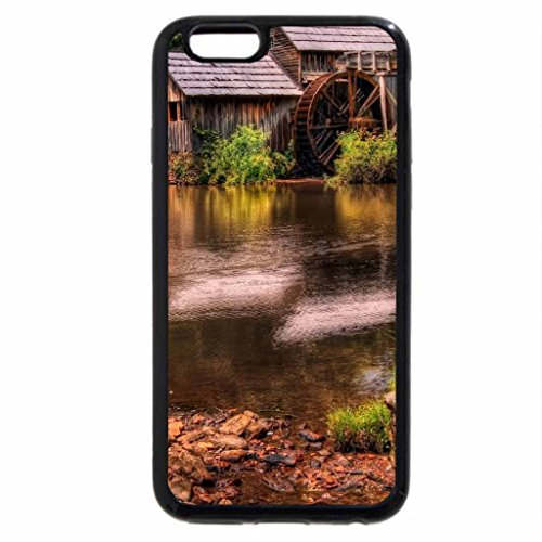 iPhone 6S / iPhone 6 Case (Black) Cottage in Woods