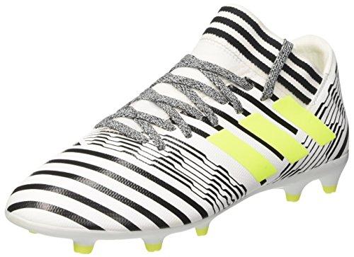 adidas Unisex-Kinder Nemeziz 17.3 Fg Fußballschuhe Weiß (Footwear White/solar Yellow/core Black)
