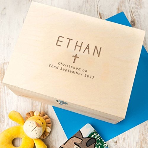 - Personalized Baptism Keepsake Box - Personalized Christening Keepsake Box - Personalized Baptism Gifts for Boys - Godson Baptism Gifts From Godparents - Baby Boy Christening Gifts