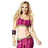 Zumba Women's Activewear Fashion Print Sports Bra with Straps For Sale