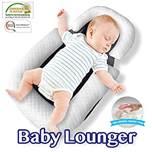 COMFYT Baby Lounger Portable Bassinet Baby Pillow Travel Crib Baby Pillow Baby Nest Co Sleeping Newborn Lounger Infant Bassinet Baby Pillow Newborn Nest Baby Sleep Baby Lounger Parent (Baby Lounger)
