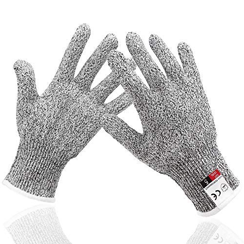 Cut Resistant Safety Work Gloves, EnPoint Level 5 Hand Protection Food Grade Kitchen Glove with 4.5in Palm Width for Oyster Shucking Mandolin Slicing Meat Cutting Wood Carving Fish Fillet Processing