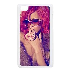 Rihanna funda iPod Touch 4 caja funda del teléfono celular blanco cubierta de la caja funda EEECBCAAJ06051