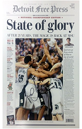 Mateen Cleaves Autographed Poster with ()