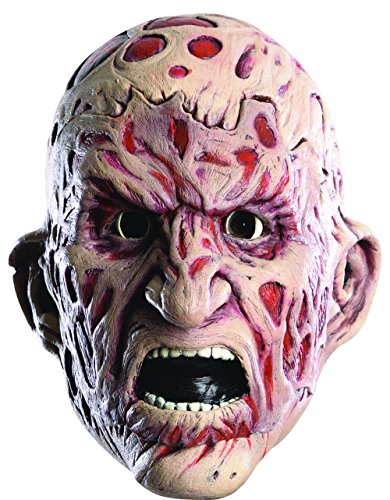Halloween Gory Costumes (Rubie's Costume Men's Nightmare On Elm Street Adult Freddy Double Tear-Away Mask, Multi, One Size)