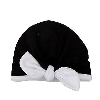 819268ac2ad CATSAP Newborn Baby Cute Bow Hospital Nursery Beanie Cap Infant Boy Girl  Turban Warm Hat Shower
