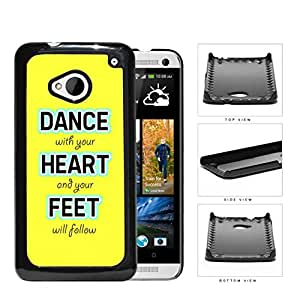 Colorful Dance With Your Heart and Your Feet will Follow Quote Hard Snap on Phone Case Cover Android HTC One M7
