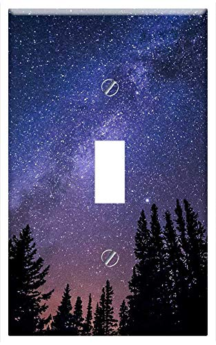 Star Toggle - Switch Plate Single Toggle - Milky Way Galaxy Night Sky Stars Universe Cosmos
