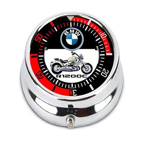 - Bang Bang Still Design BMW R1200C Boer Cruiser Motorrad 007 Motorcycle Sport Metal Custom Personality Round Medicine Pill Vitamin Box Case Storage Dispenser Organizer Holder
