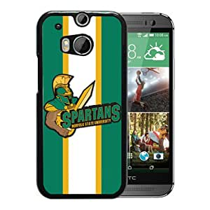 NCAA Norfolk State Spartans Black Customize HTC ONE M8 Phone Cover Case