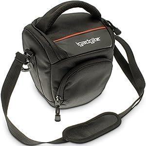 iGadgitz Small Black Water-Resistant Holster Travel Bag Case with Shoulder Strap for Nikon Film 35mm SLR (manual focus) EL2 EM, F F2 F3 series, F-301 F-601M, FA FE FE10 FE2 FG FG-20, FM FM10 FM2 FM3A