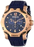Orefici Unisex ORM11C4804 Subacqueo Trenta Rose Gold-Tone Stainless Steel Dive Watch with Blue Rubber Band