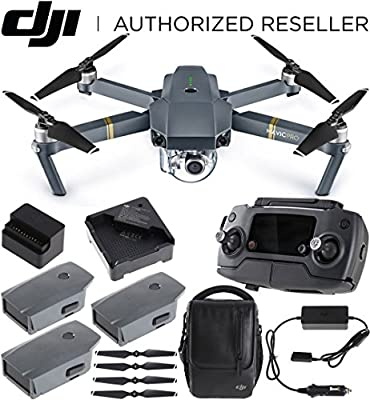 DJI Mavic Pro Quadcopter Drone with 4K Camera and Wi-Fi Dual Battery Bundle by DJI
