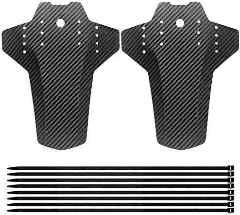 2 Piezas Fibra de Carbono Guardabarros de Bicicleta para Bloquear el Barro en Bicicletas y Bicicletas de Monta/ña Guardabarros de Bicicleta Guardabarros Guardabarros de Fibra de Carbono MTB