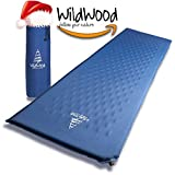 Camping Pad Premium Inflatable Sleeping Mat Comfy Durable Superior Insulation Sleep Mat Easy to Use Great for Outdoor Hiking Backpacking by WildWood