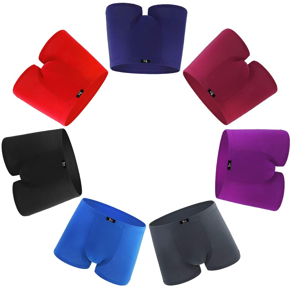 SLJ Men's Sexy 7-Pack Low Rise Micro Modal Ultra Soft Pouch Trunks Black Boys L by SLJ