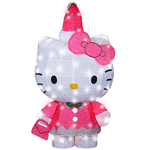 42 in. Holiday Tinsel Sculpture Hello Kitty