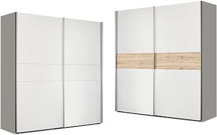 expendio wibold Armario de Puertas correderas 5 Blanco Arena Roble 170 x 191 x 61 cm Armario Dormitorio Armario Dormitorio: Amazon.es: Juguetes y juegos