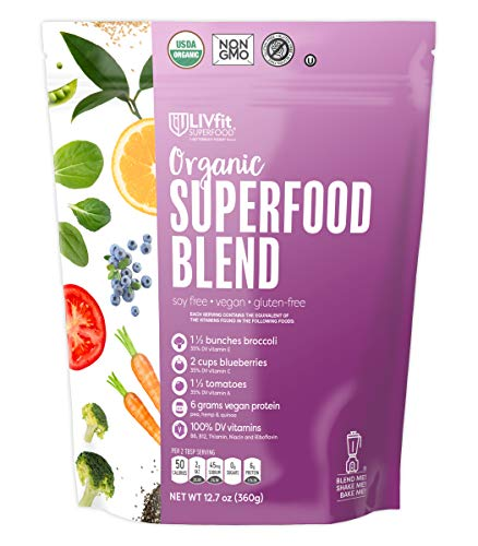 BetterBody Foods Organic Superfood Powder with Protein, Vitamins C, E, and B12 (12.7 oz.) (Best Protein Food For Women)