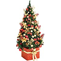 ADOMI 6 Foot Deluxe Fully Decorated Artificial Christmas Tree 10 Kinds Red/Gold Shatterproof Christmas Ornaments (141Pcs), Unlit