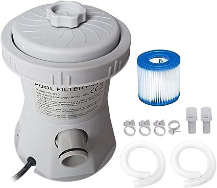 KKmoon Depuradora Piscina 110V-240V Eléctrica Bomba de Piscina con Filtro