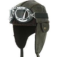 ililily Aviator Hat Winter Snowboard Fur Ear Flaps Trooper Trapper Pilot  Goggles bf38173e133c