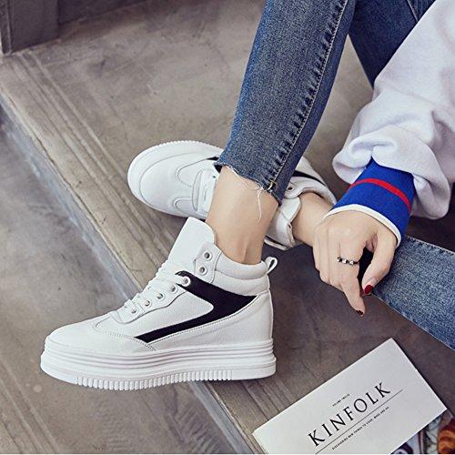 Fondo Grueso Tamaño Mujer Aire Liangjun uk4 225mm color De Libre Zapatos Primavera 5 Zapatillas l Negro Rojo Tamaños Al Eu35 X6wwYqgxt