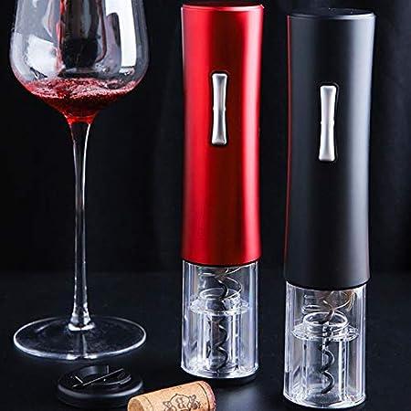 JSJJAUJ Sacacorchos Abridores Sacacorchos Vino Corcho Retirar el abridor de la Botella de Vino eléctrico Automático Sacacorchos de Aluminio Cutter Set Herramientas de la Cocina (Color : Black)