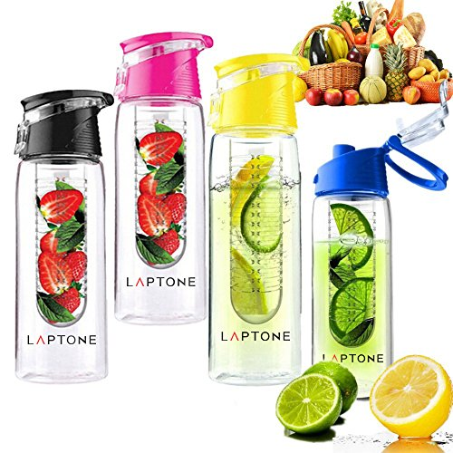 Laptone Leak Proof Fruit Infuser Unisex Outdoor  Water Bottle available in...