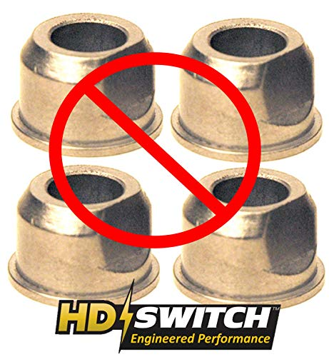 (4 Pack) Sears Craftsman 532009040 Front Wheel Bushing to Bearing Conversion Kit – OEM Upgrade – HD Switch