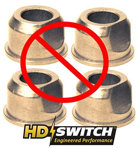 (4 Pack) Sears Craftsman 532009040 Front Wheel Bushing to Bearing Conversion Kit – OEM Upgrade – HD Switch