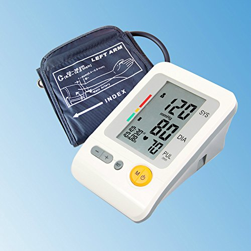 Portable Home Care Full Automatic Digital Arm Blood Pressure Monitor Heart Beat Meter with LCD Display and 4X30 Memories