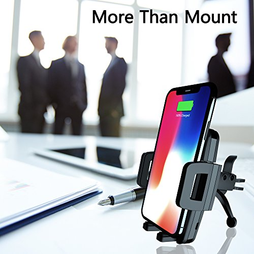 Wireless Car Charger Qi Fast Wireless Charger Air Vent Phone Mount 10W for iPhone X 8/8 Plus Galaxy S9 S9 Plus S8 S7/S7 Edge Note 8 5 Qi Devices etc by ICCKER (Image #6)
