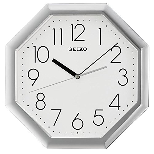 Seiko QXA668S Analogue Display with Arabic Numerals Octagon Wall Clock - ()