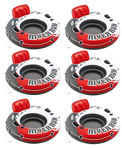 Intex River Run 1 Water Inflatable Tube Raft (6 Pack) (Best Inflatable River Rafts)