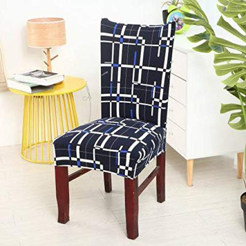 GBTRICON Short Dining Wrinkle Resistant Chair Covers Removable Stretch Spandex Chair Protector Slipcovers for Wedding Party