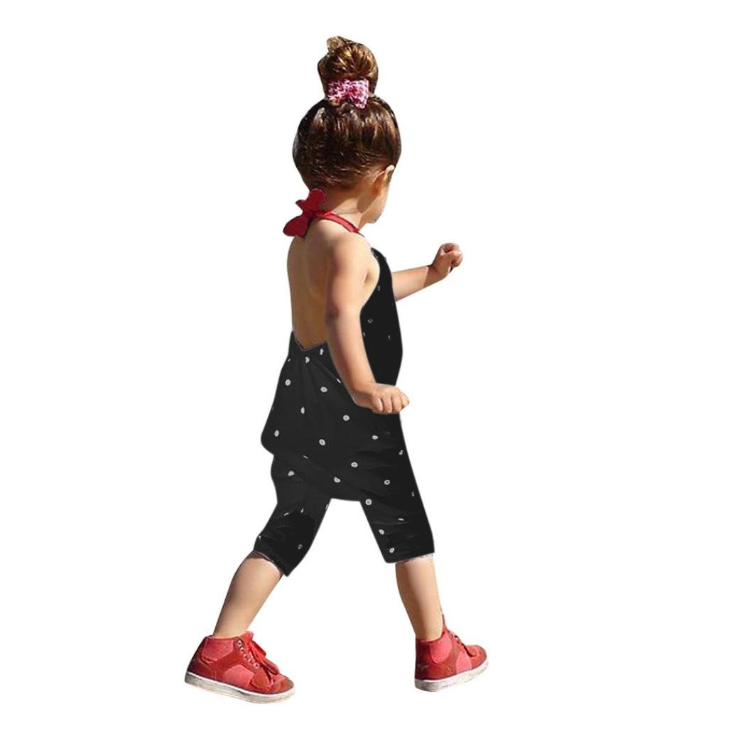 8a9443f247d Amazon.com  Vicbovo Clearance Sale Toddler Baby Girl Cute Dots Print Sleeveless  Jumpsuit Romper Kids Summer Clothes  Clothing