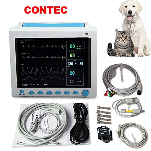 - CONTEC MEDICAL SYSTEMS Veterinary PET Vet Patient Monitor Multiparameter ICU Machine Big Screen (6 Parameter)