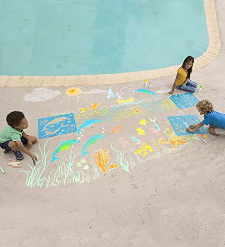 ChalkScapes Under-The-Sea Sidewalk Chalk Stencil Set