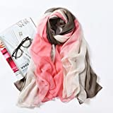 HOMEE During the Spring and Autumn Scarf Shawl Scarves Beach Towel Scarf Scarf Girl Summer Sun,Pink green