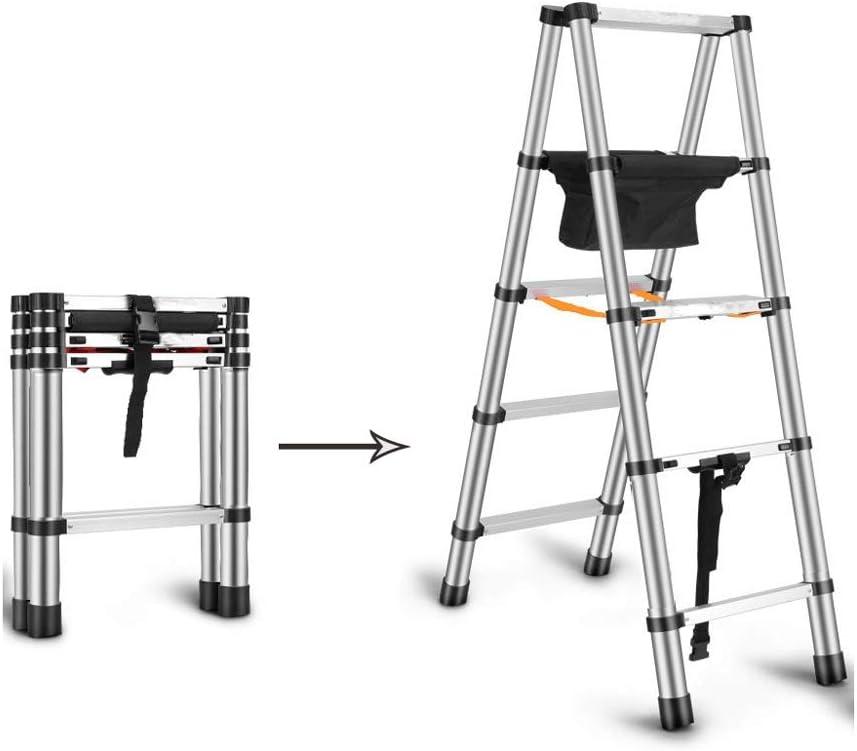Escaleras de tijera Escalera Telescópica De Aluminio Escalera Extensible Mecanismo Telescópico Extensible Antideslizante Y Antideslizante Lata De 150 Kg (Size : 2m): Amazon.es: Bricolaje y herramientas