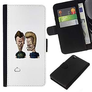 NEECELL GIFT forCITY // Billetera de cuero Caso Cubierta de protección Carcasa / Leather Wallet Case for HTC DESIRE 816 // Acdc Beavis y Butt