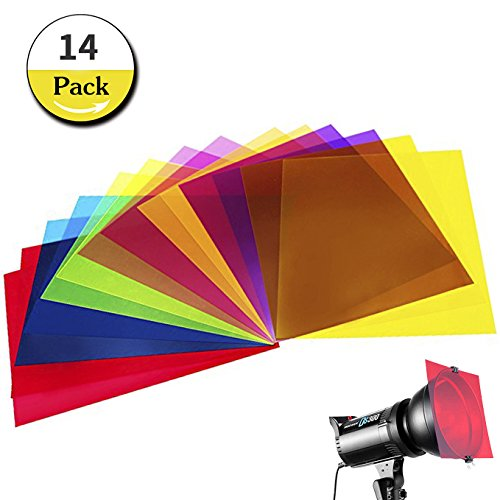 lays Transparency Color Film Plastic Sheets Correction Gel Light Filter Sheet, 8.5 by 11 Inch,7 Assorted Colors ()
