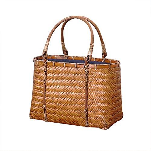 Sac à main en bambou, yunt bambou sac fourre-tout en bambou Sac fourre-tout en bambou paille sac d'été sac demi-lune circulaire sac à bandoulière bandoulière pour les femmes