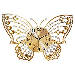 Recommended today Butterfly Wall Clock Living Room Hanging Table Home Wall Clock Decoration Clock Creative Quartz Mute Clock
