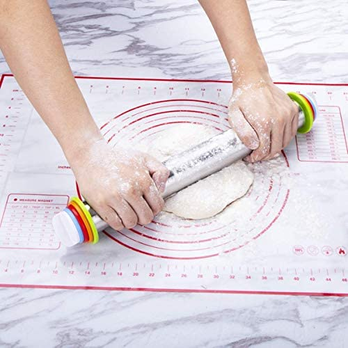 Amazon.com: Juego de rodillo ajustable con anillos de grosor ...