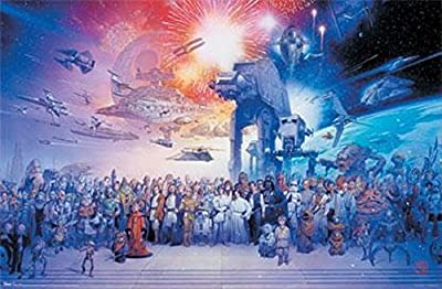 Star Wars Movie Galaxy Poster Print
