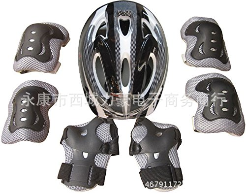Bingirl 7pcs/Set Children Outdoor Cycling Ski Motorcycle Thick Helmet Windproof Warm Set